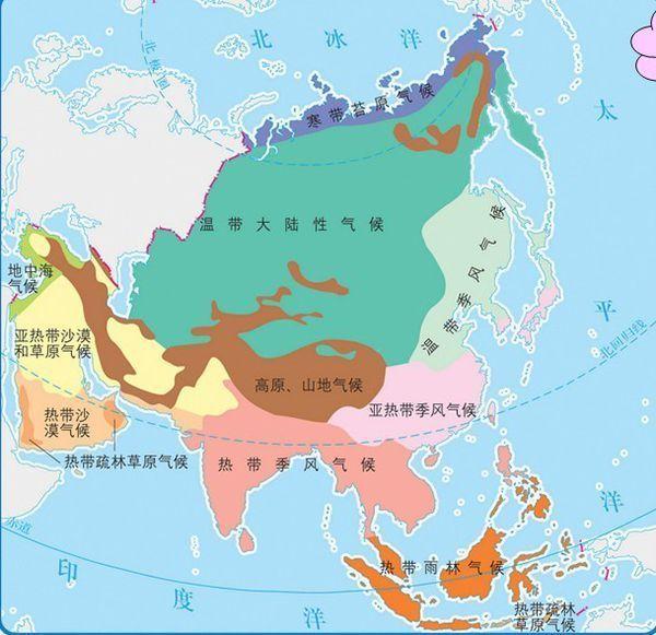 亚洲国家_亚洲国家地图分布图