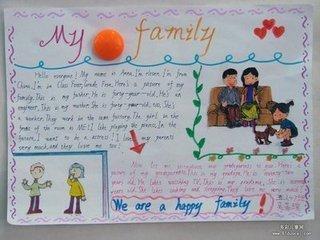 英语用家庭成员画手抄报画什么?急么画?