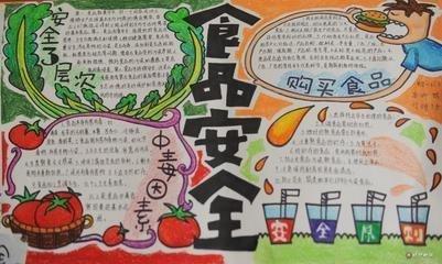 营养与安全知识手抄报-食品安全与营养知识黑板报