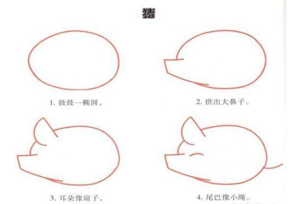 猪的简笔画怎么画