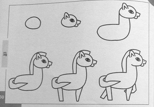 簡筆畫馬的圖片怎么畫啊?