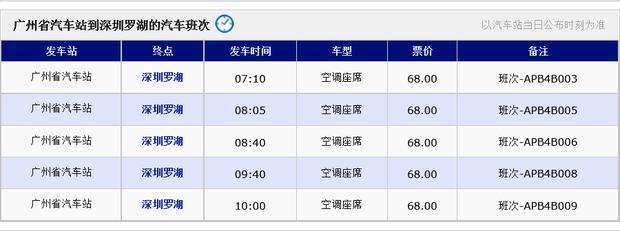 广州火车站到深圳罗湖最晚的一班汽车是什么时间?