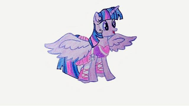 簡筆畫:小馬寶莉--紫悅 公主