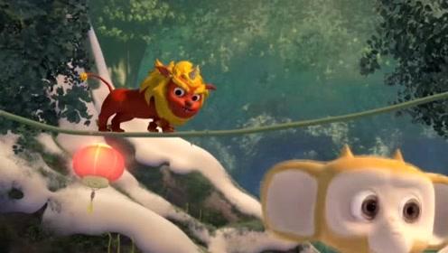 熊熊乐园2:年兽私自闯入了大树幼儿园,毛毛有危险