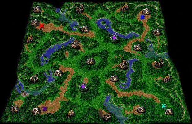 求魔兽争霸3一张亚洲地形图