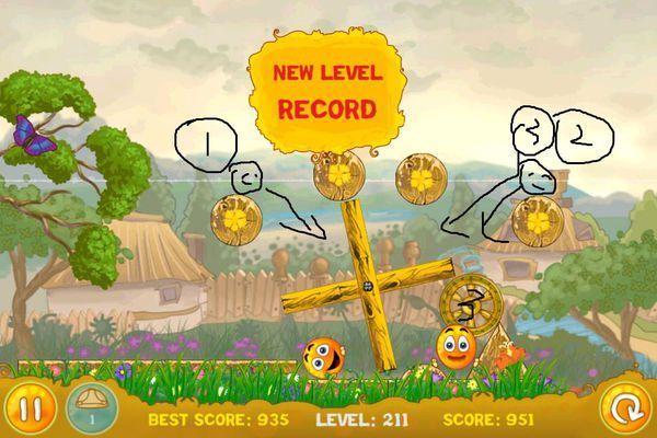 iphone4里的保护橙子游戏第211关怎么过啊?