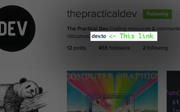 @ThePracticalDev Instagram Account
