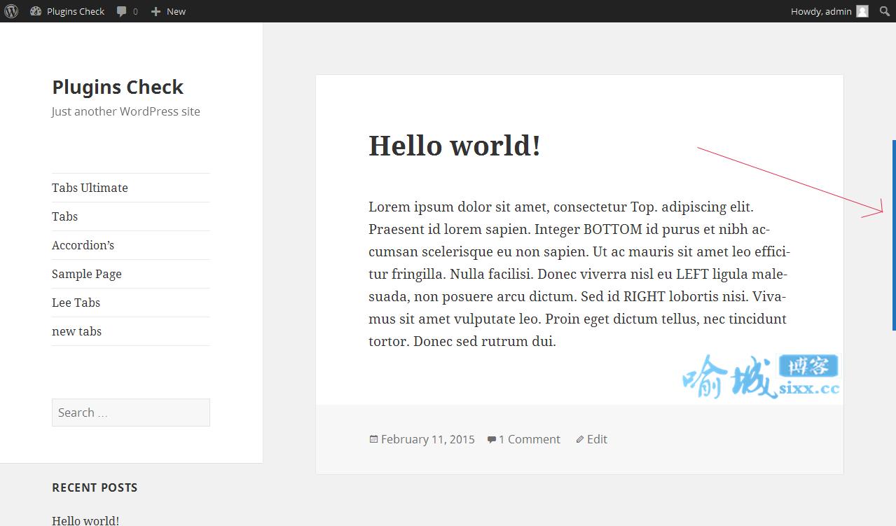 WordPress插件:Scrollbar自定义浏览器滚动条