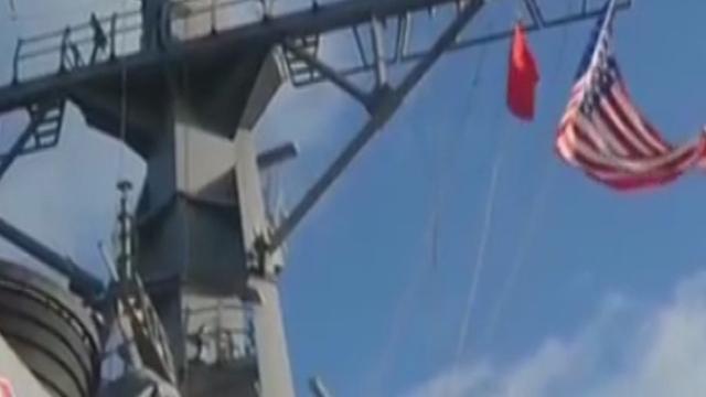 """《军情解码》20151028 美宙斯盾舰""""巡航""""南海"""