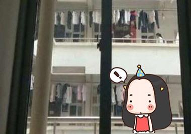 广西一中学女生宿舍不准挂窗帘?