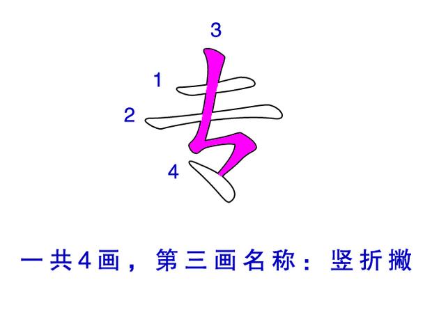 专 共几画,第三画是什么,笔画名称是什么