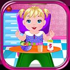 嬰兒護理水療女孩游戲
