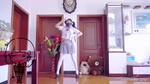 宅舞:圈锦 后街女孩op女装在家跳舞 脚下即是舞台