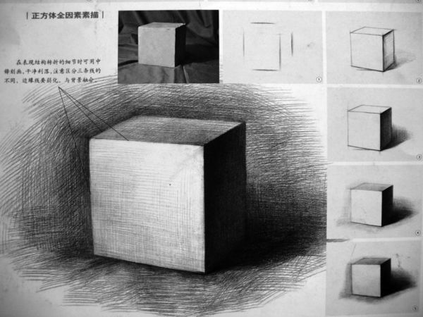 一个素描正方形戴阴影