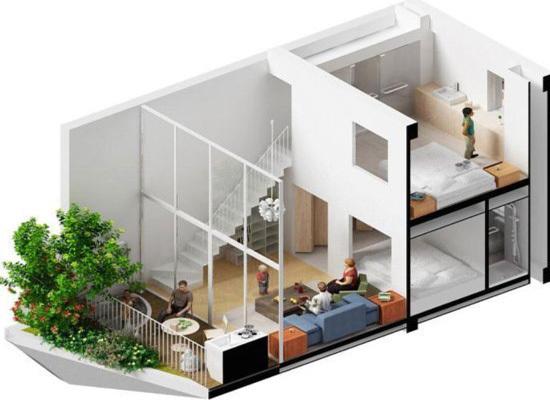 小户型卧室复式装修 三联