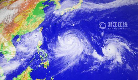 此次双台风强度路径