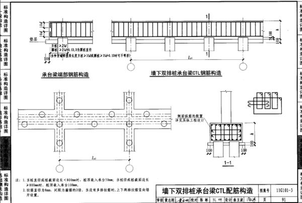 基础梁钢筋与桩基搭接处怎么算