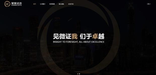 中英双语言黑色风格投资网站