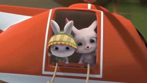 凯特和小月亮大战玩具猫,玩具猫救了掉下飞机的凯特!