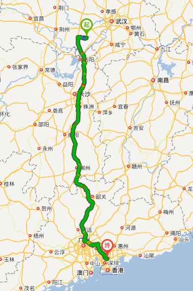 湖北荆州洪湖客运站到深圳平湖客运站有多少公