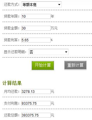 武汉商业贷款30万10年还清,武汉人请算一算一共利息是多少?