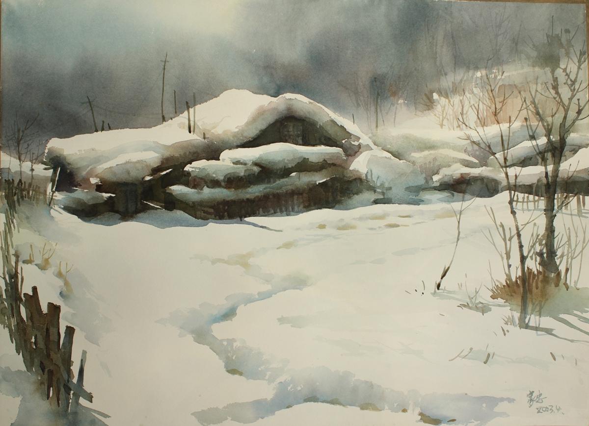 水彩畫雪景的營造應注意什么?畫不出來雪的感覺