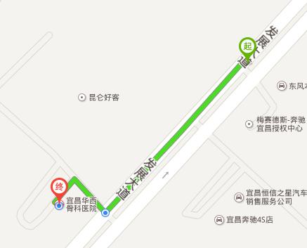 坐十二路公交车到宜昌华西骨科医院在哪站下车