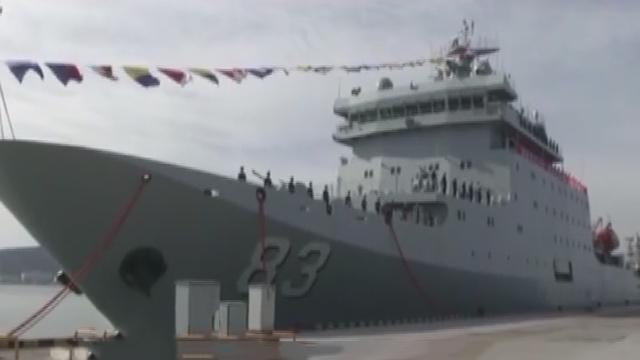 《军情解码》20170302万吨训练舰入役